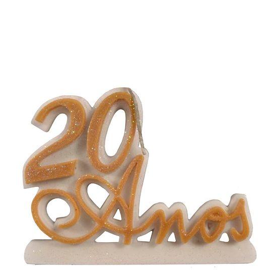 Vela 20 Anos Ouro
