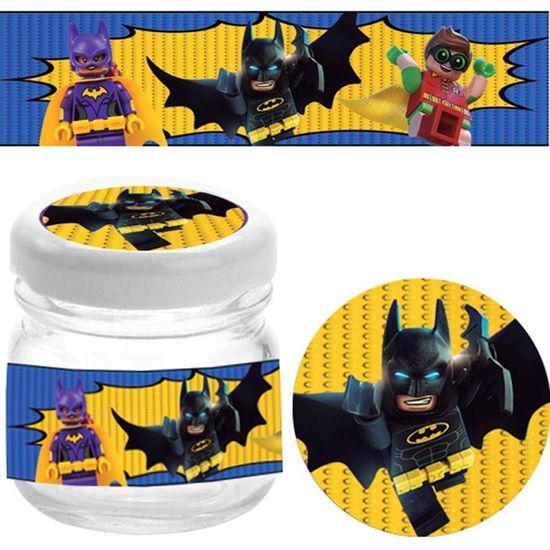 Festa Lego Batman - Kit Adesivo Especial para 10 Potinhos - Lego Batman