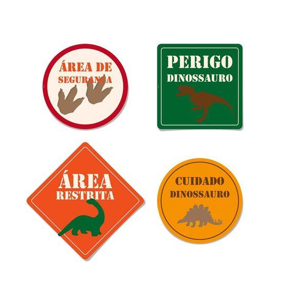 Festa Dinossauros - Cartaz Decorativo 08 Un