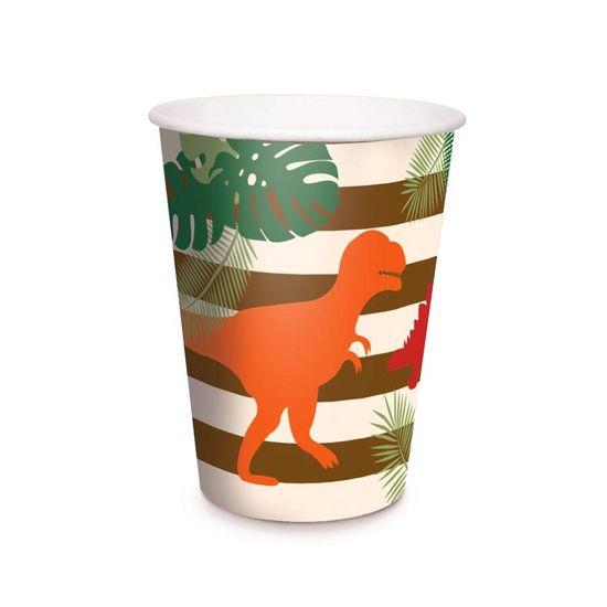 Festa Dinossauros - Copo de Papel 240ml 08 Un