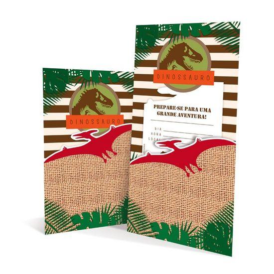 Festa Dinossauros - Convite 08 Un