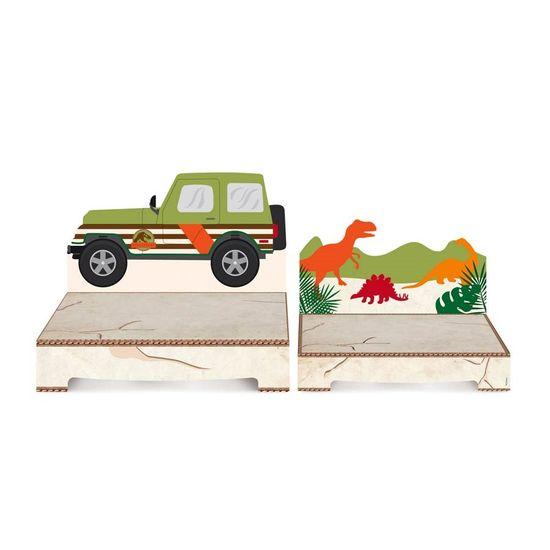 Cromus Mundo dos Dinossauros - Kit Suporte para Doces 02 unidades