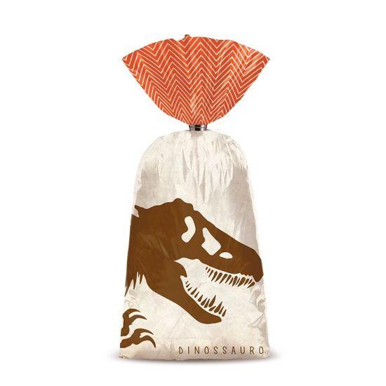 Festa Dinossauros - Sacola Plástica 08 Un
