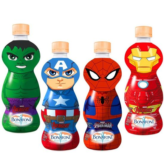Festa Os Vingadores - Garrafa com Água Mineral 330ml - Heróis Marvel