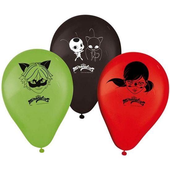 Festa Miraculous LadyBug - Balão Miraculous Ladybug - 25 Un