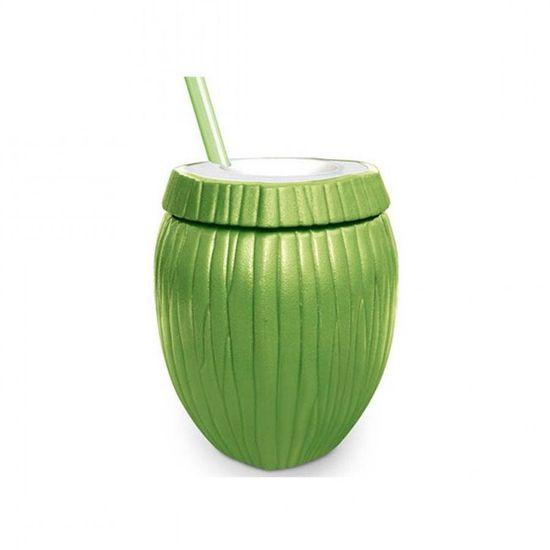 Copo Coco Verde com Canudo - 450ml