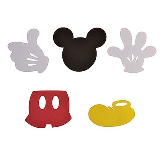 Festa Mickey Mouse - Aplique Artesanal Mickey Mouse M - 10 Un