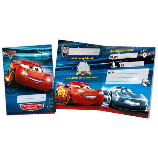 Festa Carros Disney - Convite de Aniversário Cars Disney 3 - 08 Un