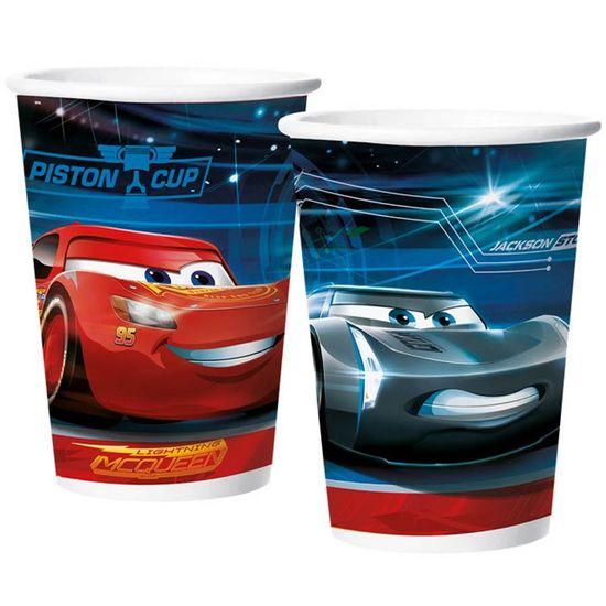 Festa Carros Disney - Copo de Papel 180ml Cars Disney 3 - 08 Un