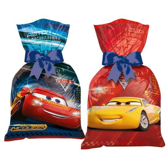 Festa Carros Disney - Sacola Plástica Cars Disney 3 - 08 Un