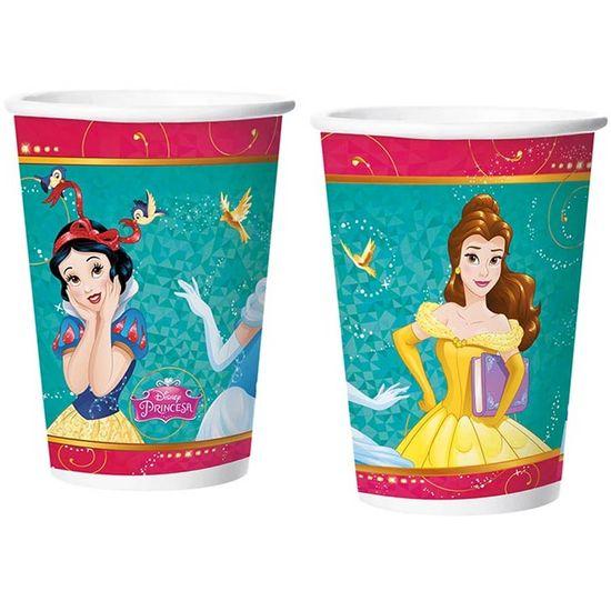 Festa Princesas Disney - Copo de Papel 180ml Princesas Amigas - 08 Un