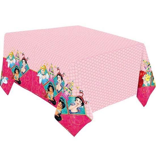 Festa Princesas Disney - Toalha de Mesa Principal Plástica Princesas Amigas