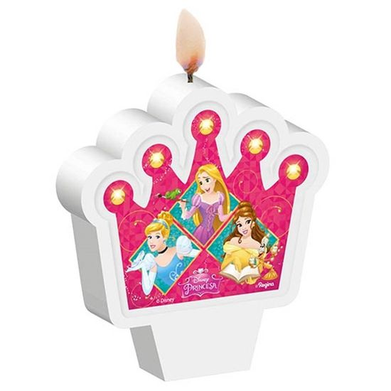 Festa Princesas Disney - Vela Plana Princesas Amigas