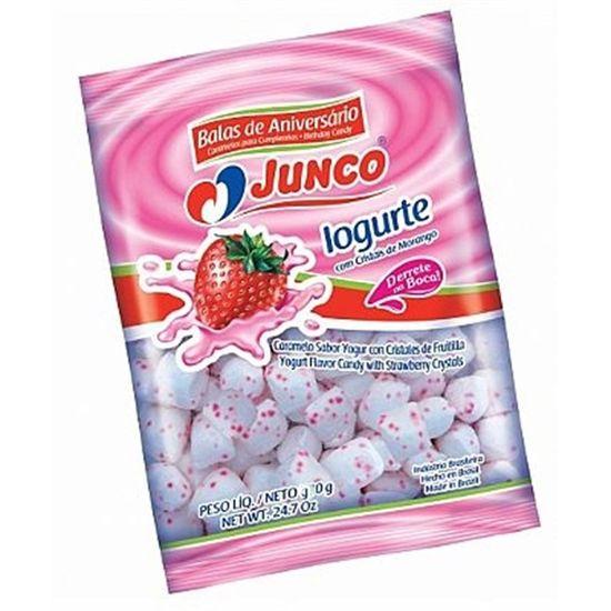 Pacote de Bala de Iogurt com Cristal Morango - 400g