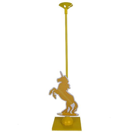Festa Unicórnio - Enfeite de Mesa Porta Balão Unicórnio Ouro