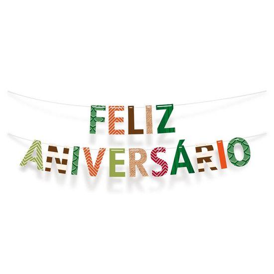 Festa Dinossauros - Faixa Feliz Aniversário
