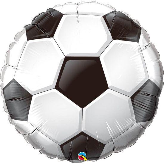 Balão Metalizado Qualatéx 91cm Redondo - Bola de Futebol