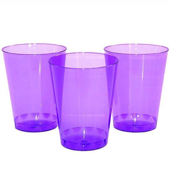 Copo Plástico 200ml Elegance Neon Lilás - 10 Un