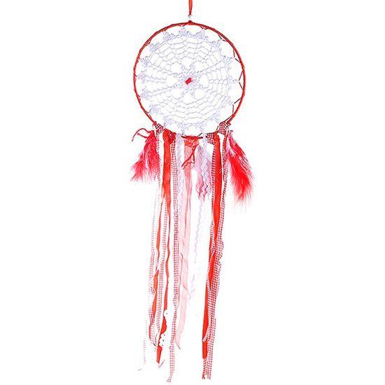 Filtros dos Sonhos Importado para Decoração (63cm) Vermelho