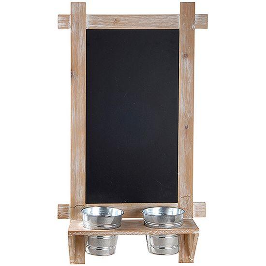 Lousa Vertical com Vasinhos para Decoração (35x64cm)