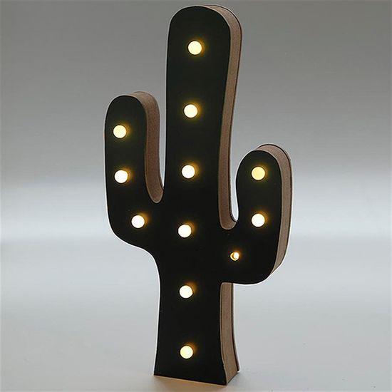 Luminária Importada Cactos de LED e MDF (30cm)
