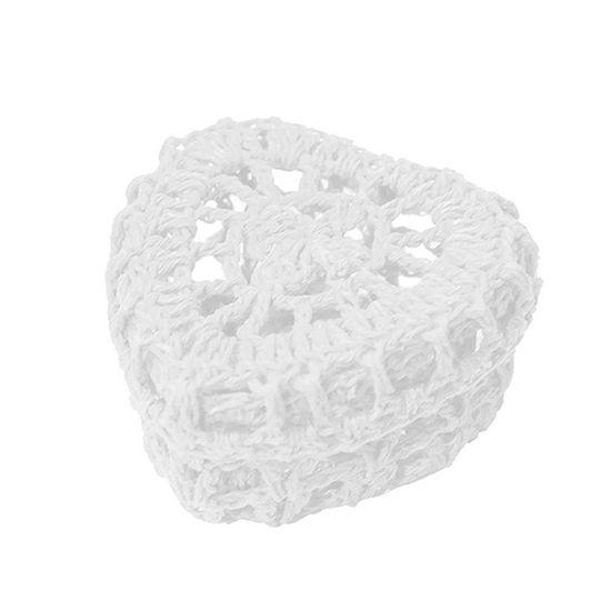 Mini Caixinha Coração de Crochê para Lembrancinha - Branca