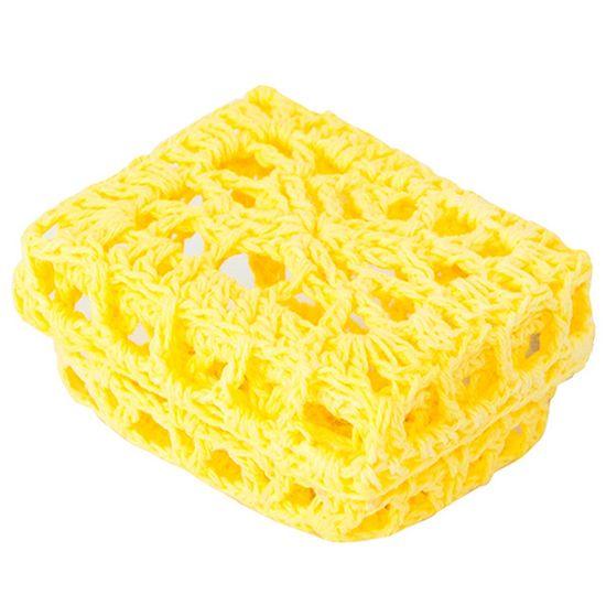 Mini Caixinha Retangular de Crochê para Lembrancinha - Amarela