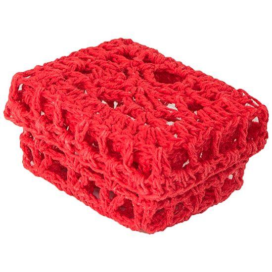 Mini Caixinha Retangular de Crochê para Lembrancinha - Vermelha