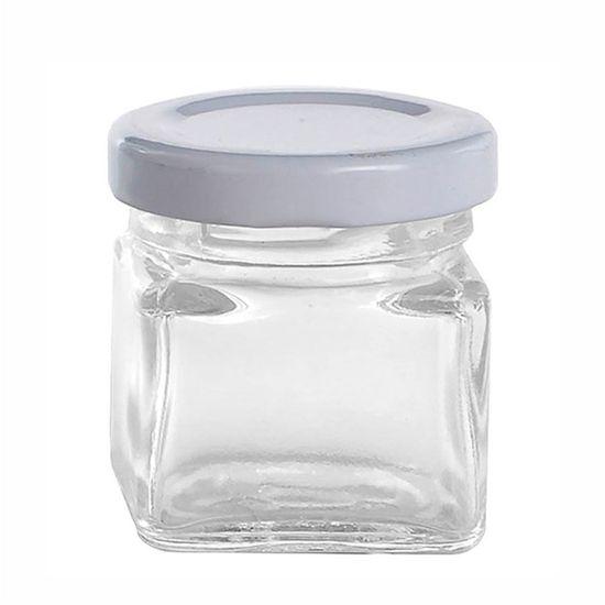 Potinho de Vidro Quadrado - 25 ml