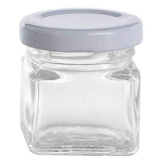 Potinho de Vidro Quadrado - 40 ml