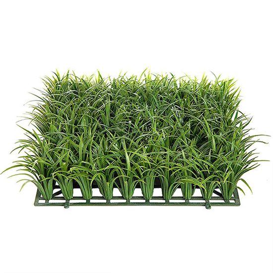 Tapete de Grama Artificial Verde para Decoração - 33 cm