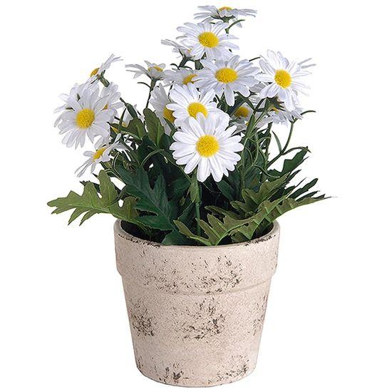 Vaso Decorativo de Margarida Artificial - 25 cm