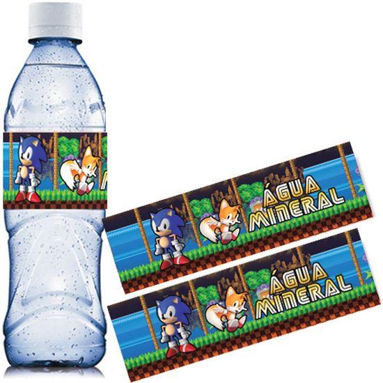 Festa Sonic - Adesivo Especial Água Mineral Sonic - 06 Un