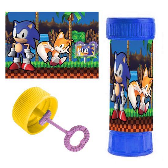 Festa Sonic - Adesivo Especial para Bolinha de Sabão Sonic - 06 Un