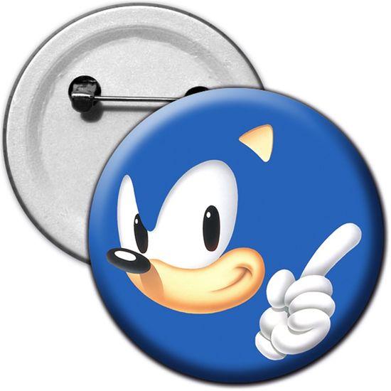 Festa Sonic - Broche Especial Sonic Azul - Para Lembrancinha