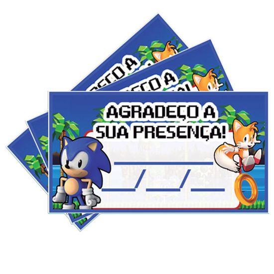 Festa Sonic - Tags SEM Furo Sonic - 15 Un