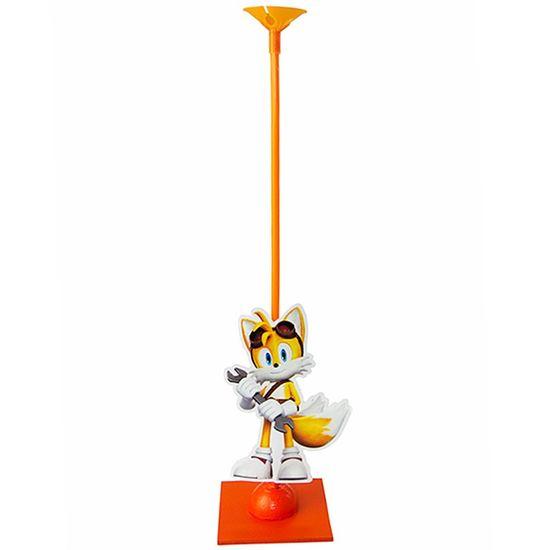 Festa Sonic - Enfeite de Mesa Porta Balão Sonic Tails Amarelo