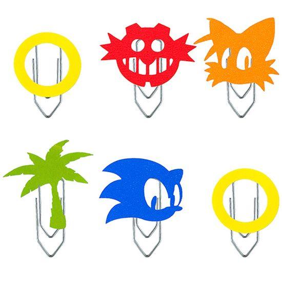 Festa Sonic - Clipes com Aplique Sonic - 06 Un