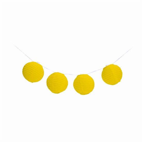 Varalzinho de Globos Amarelo sem Luz - 6 Unidades