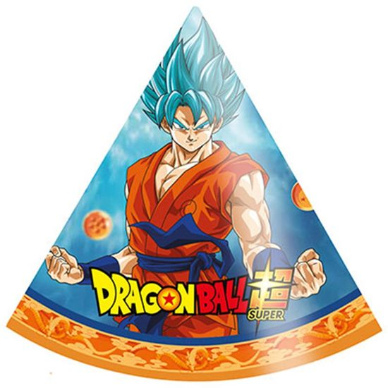 Festa Dragon Ball Super - Chapéu de Aniversário Dragon Ball - 08 unidades