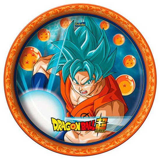 Festa Dragon Ball Super - Prato Descartável Dragon Ball - 08 unidades