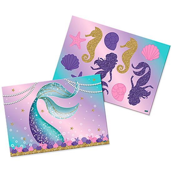 Festa Sereia - Kit Decorativo Cartonado Sereia Festcolor