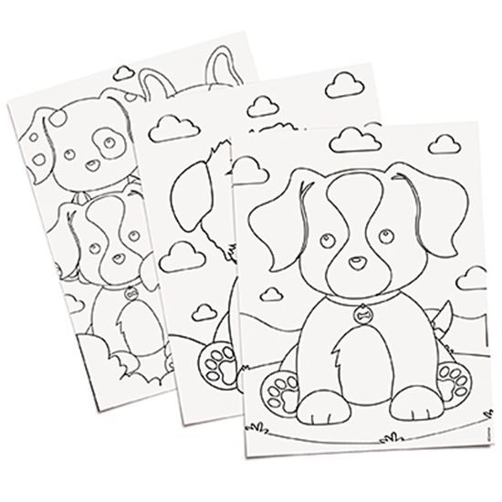 Festa Cachorrinhos - Folhas para Colorir (16x23,5cm) 08 Un