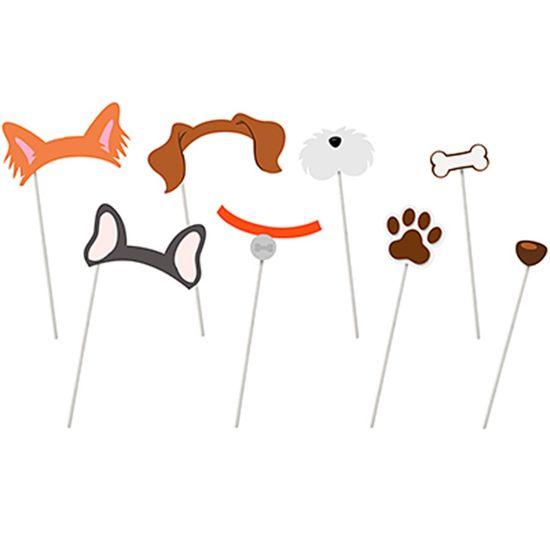 Festa Cachorrinhos - Plaquinhas Acessórios 08 Un