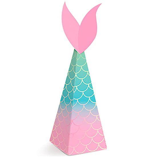 Festa Sereia - Caixa Mini Cone com Aplique 08 Un Festa Sereia - Caixa Mini Cone com Aplique - 8 Un