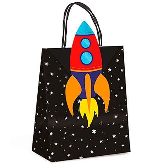 Festa Astronauta - Sacola Papel com Fechamento P 10 Un
