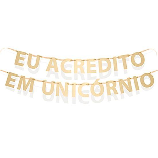 Cromus Unicórnio - Faixa Decorativa Eu Acredito em Unicórnio
