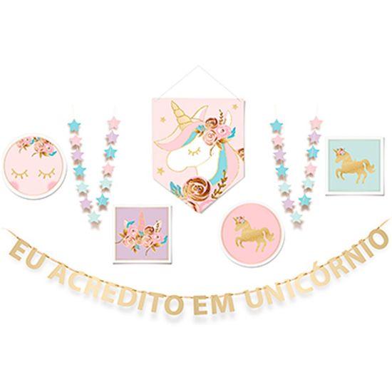 Festa Unicórnio - Painel Cartonado Desconstruído (192x92cm)