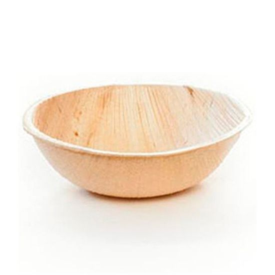 Bowl Biodegradável Redondo em Palha de Palmeira (9cm) 08 unidades