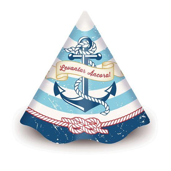 Festa Marinheiro - Chapéu de Aniversário Marinheiro Junco - 08 Un